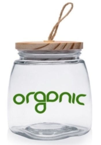64 oz. Glass Candy Jars with Suction Wooden Lid