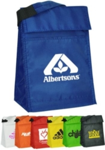 Velcro Closure Insulated Lunch Bags