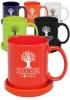 11 oz. Traditional Ceramic Coffee Mugs with Ceramic Coasters