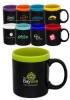 11 oz Glam Two Tone Matte Coffee Mugs