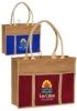 Jute Panel Tote Bags