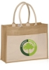 Canvas Pocket Jute Tote Bags