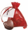 Organza Pouch w/ 3 Belgian Chocolate Hearts