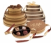 Signature Oval Bronze 4pc Chocolate Truffle Box