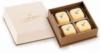 Deco 4pc Gift Box w/Custom Imprinted Truffles