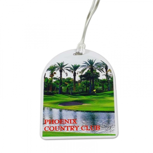 Oval Top Golf Tag - 4c Digital Imprint