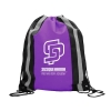 Polyester Drawstring with Reflector Stripes
