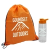 Drawstring Backpack and Tritan Bottle Combo Kit