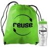 Bottle in Non-woven Drawstring Backpack kit