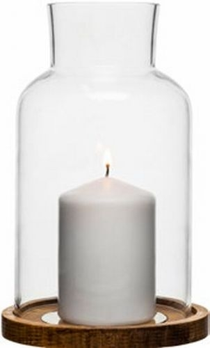 Oak candle holder, big