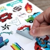 Glossy White Vinyl Sticker Pages