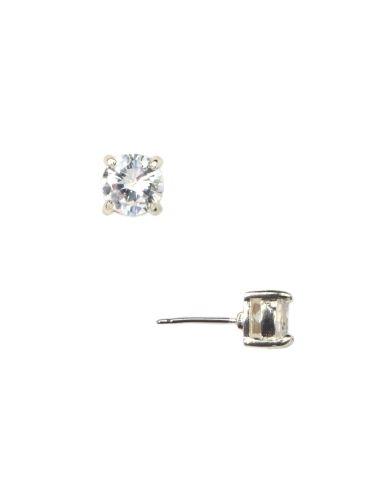Anne Klein Jewelry - Silver-Tone CZ Stud Earrings