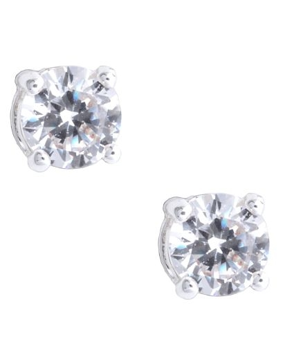 Nine West Jewelry - Silver-Tone Cubic Zirconia Stud Earrings