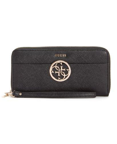 GUESS Handbags and Ladies Wallets - Kamryn Large Zip Around Wallet - Black