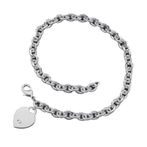 GUESS Jewelry - Silvertone Heart Charm Necklace