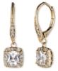 Anne Klein Jewelry - Gold-Tone CZ Drop Earrings