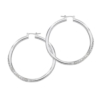 GUESS Jewelry - Crystal Accented Hoop Earrings - Silver