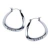 GUESS Jewelry - Logo Triangular Hoop Earrings - Silver
