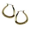 GUESS Jewelry - Logo Triangular Hoop Earrings - Gold