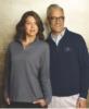 1/4-Zip Flat-Back Rib Pullover Sweater