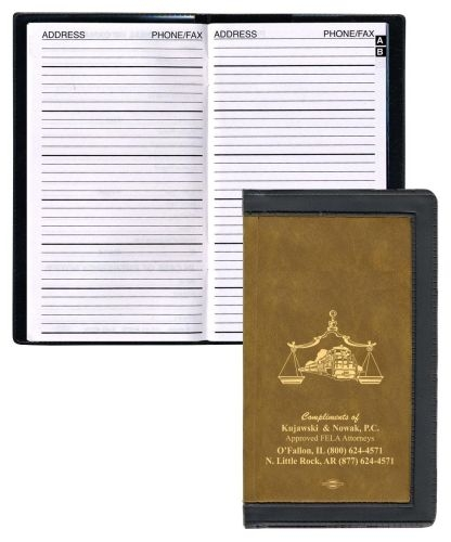 2 Tone Vinyl Cover Address Book
