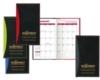 Soft Cover 2 Tone Vinyl Geneva Series Monthly Planner / 2 Color