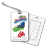 Large Laminated Luggage Tag w/ Pouch (0.035 plastic)