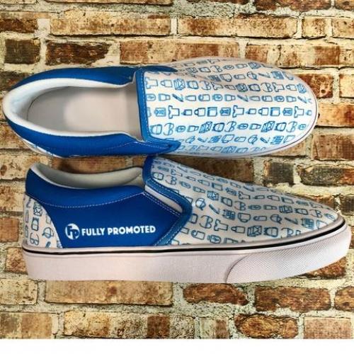 Custom Printed Tennis Shoes - The Slip-On