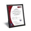 Black Plastic Certificate Frame
