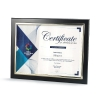 Black Certificate Frame with Silver Metallized Accent