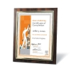 Walnut Certificate Frame with Gold Metallized Accent