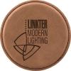 Leatherette Round Coaster (Dark Brown)