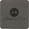 Leatherette Square Coaster (Grey)