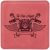 Leatherette Square Coaster (Pink)