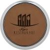 Leatherette Silver Edge Round Coaster (Dark Brown)