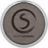 Leatherette Silver Edge Round Coaster (Grey)
