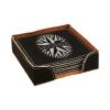 Leatherette Square 6-Coaster Set (Black/Silver)