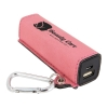 Leatherette Power Bank with USB Charging Cord