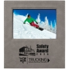 Leatherette Frame Holds 5 x 7, Gray