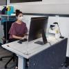3 Panel Office Desktop Safety Barrier Partition