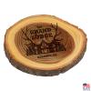 Elm Log Coaster