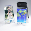 A-Frame Phone Holder, Clear Acrylic with Photo Holder