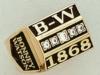 Corporate Diamond Addition 10K Gold Men's Ring W/ Square Body