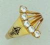Corporate Fashion 14K Gold Ladies Ring W/ 5 Gemstones