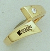 Corporate Fashion 10K Gold Ladies Ring W/ Gemstone