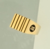 Corporate Fashion Large Men's Ring W/ 6 Vertical Stripes