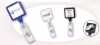Square Shape Badge Holders with Swivel Safe-Grip Back Clips