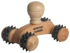 Small Wooden Massager w/ Textured Wheels