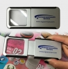 Sliding Magnifier Card with LED light