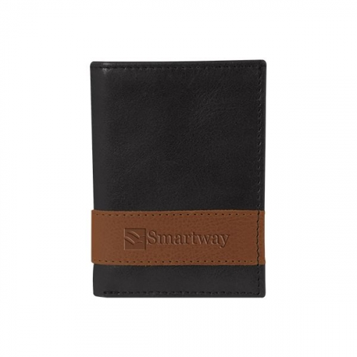 WestBridge Two-Tone Tri-Fold Wallet